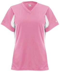 Badger Womens Rally V-Neck Softball Jerseys