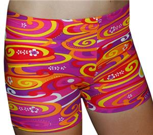 "Spandex 4"" Sports Shorts - Kona Print"