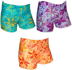 Spandex 4&quot; Sports Shorts - Groovy Print