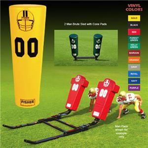 Fisher 2 Man Football Brute Sleds w/ Cone Pads