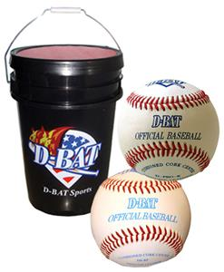 D-Bat 6-Gal. Bucket with 30 Practice Balls