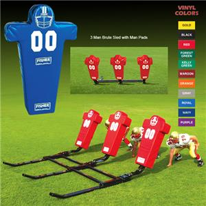 Fisher 3 Man Football Brute Sleds w/ Man Pads