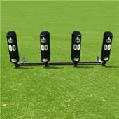 Fisher 4 Man Football Brute Sleds w/ Round Pads