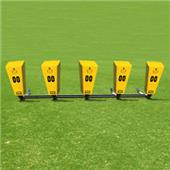 "Fisher 5 Man Football Brute Sleds w/ ""V"" Pads"