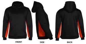 Badger BT5 Black/Orange Fleece Hoodies