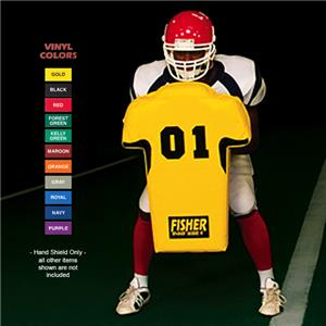 "Fisher HD700 ""Man"" Football Hand Shields"