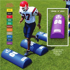 Fisher HR428 Half Round Football Agility Dummies