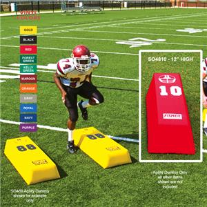 Fisher SO4810 Stepover Football Agility Dummies