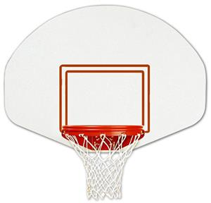 Bison Rust-Free Polyethylene Fan-Shaped Backboard