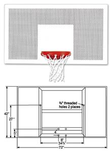 "Bison Perforated 72"" Official Size Steel Backboard"
