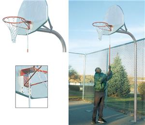 Bison Removable Basketball Goal Bracket Pole Kit