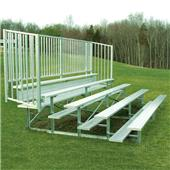 Fisher 5 Row Bleachers with Guard Rail
