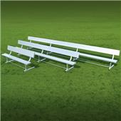 Fisher Aluminum Team Benches with Backrest