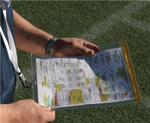 Fisher Football Coach's 3rd Hand Game Plan Holder