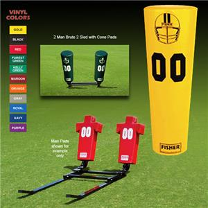 Fisher 2 Man Football Brute 2 Sleds w/ Cone Pads