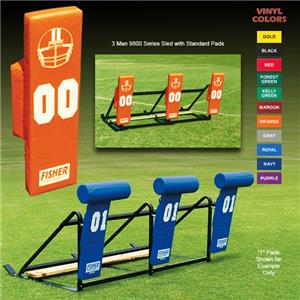 Fisher 3 Man Football 9800 Sleds w/ Standard Pads