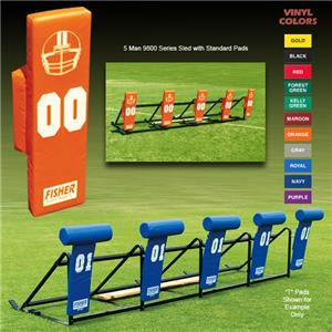 Fisher 5 Man Football 9800 Sleds w/ Standard Pads