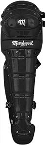 "19"" Adult Pro Double Knee Cap Leg Guards w/Wings"