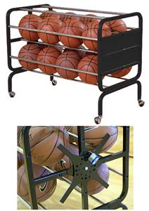 Bison 16 or 24 Heavy Duty Lockable Basketball Cart
