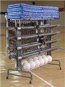 Bison Multi-Court Volleyball Storage System