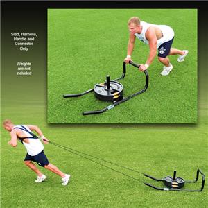 "Fisher 14"" Football Push/Pull Sled and Harness Set"