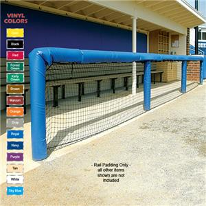 Fisher Baseball 72&quot; Grommeted Rail Padding