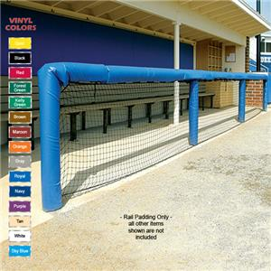 Fisher Baseball 120&quot; Grommeted Rail Padding