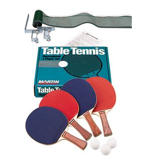 Martin Sports Table Tennis Ping Pong 4 Player Set