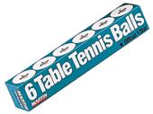 Martin Table Tennis Ping Pong Balls (Tube of 6)