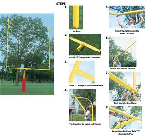 "Collegiate Gooseneck 96"" Football Goalpost FB58CG"