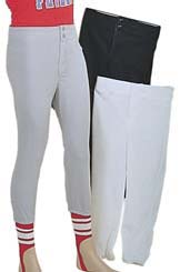 Adult Baseball Pants Elastic Waist w/Zipper Fly