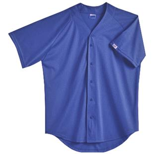 Soffe Youth Full Button Front Mesh Baseball Jersey