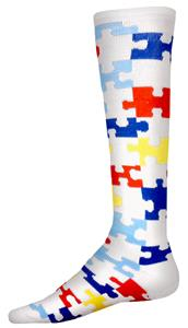 Red Lion Promote Autism Awareness Puzzle Socks