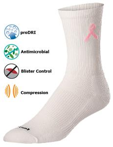 Twin City Breast Cancer Ribbon Crew Socks (1-Pair)