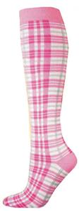 Red Lion Pink Plaid Socks