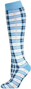 Red Lion Blue Plaid Socks