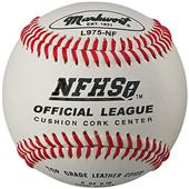 NFHS Top Grade Leather Cover Baseballs (Dozen)