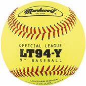"Markwort 9"" Yellow Leather Cover Baseballs (Dozen)"