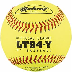 Markwort Yellow Leather Cover Baseballs (Dozen)