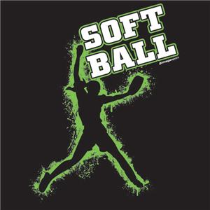Image Sport Softball Green Player T-shirts