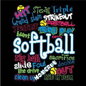 Image Sport Softball Graffiti T-shirts