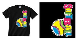 Image Sport Softball Multi Vertical T-shirts