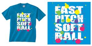 Image Sport Fastpitch Paint Splatter T-shirts