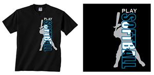 Image Sport Play Softball T-shirts
