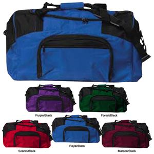 "TURFER 27"" Athletic Two Color Duffel Bags"