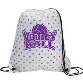 Volleyball Polka Dot Backpack Drawstring
