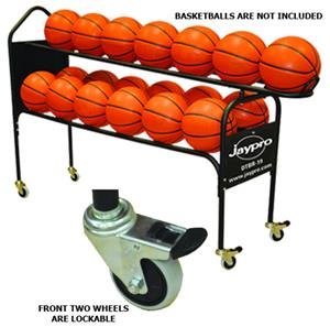 19 BALL DELUXE BALL RACK W/JAYPRO ON 1 SIDE