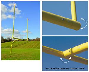 """Max-1 College or HS FBGoal 6"""" OS 20' Upright"""