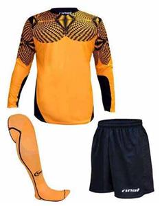 Rinat Geometric Orange Soccer Goalkeeper Kits