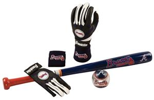 Franklin MLB Braves Complete Tee Ball Set